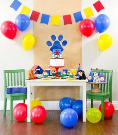 Puppy Birthday Party Ideas for a Paw Patrol Birthday Party or Puppy Dog Pals Birthday Party with your Cricut Maker by Pineapple Paper Co. Paw Patrol Party Favors, Paw Patrol Birthday Theme, Paw Patrol Party Decorations, Paw Patrol Cupcakes, Diy Birthday Decorations, Dog Themed Parties, Puppy Birthday Parties, Puppy Party, Birthday Diy