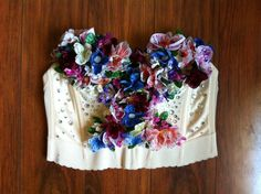DIY COSTUME - BEJEWELED FLORAL BUSTIER  ... | Fancy Made