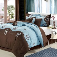 Deco Rose 8 Piece Comforter Set