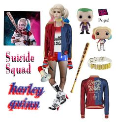 """""""Su*cide Squad's Harley Quinn Cosplay!"""" by kris-tin-22 ❤ liked on Polyvore featuring COS, Pamela Mann, fabulous, cosplay, harleyquinn, good_night and SuicideSquad"""