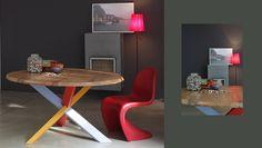 #arredo #giorno #tavolo #legno #legnomassiccio #rovere #massello #qualità #madeinitaly #innovazione #style #natural #colori #table