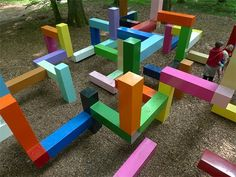 The colorful Primary Structure by Jacob Dahlgren, located deep in the forest of a rural estate in Sweden called Wanas.