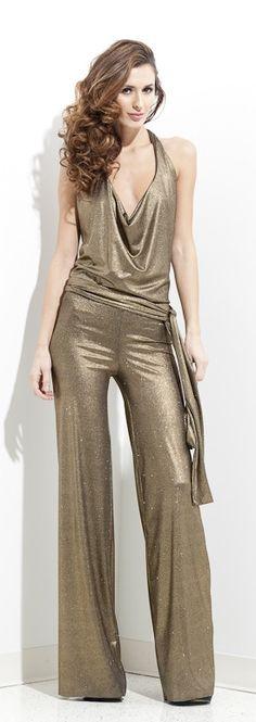 Gold Sequin Jumpsuit