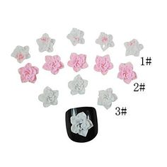nananana 20PCS 3D Ceramic Finger Nail Decorations Floral (Assorted Color) ** Read more reviews of the product by visiting the link on the image.