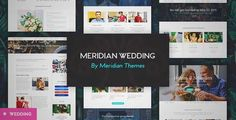 Download and review of Meridian Wedding - A Beautiful Wedding WordPress Theme, one of the best Themeforest Wedding themes