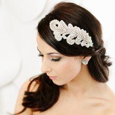 Bridal Headpiece  Wedding Hair Adornment by LavenderByJurgita, $95.00