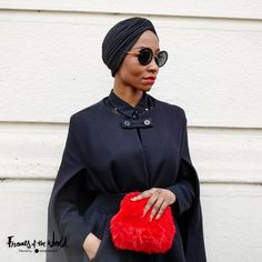 Round frames take on a new guise when worn with an elegant cape and turban. It's sophisticated styling at its best. #FramesOfTheWorld #Milan