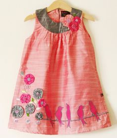 adorable dress for the girls...birds on a wire