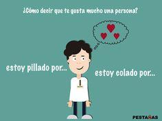 Estoy pillado por- estoy colado por- Pestañas ELE Spanish, Family Guy, Study, Guys, Fictional Characters, Blog, Second Language, Vocabulary, Writing