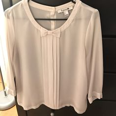 I just discovered this while shopping on Poshmark: White Forever 21 Blouse. Check it out!  Size: S