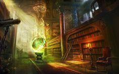 magic ball library columns castle