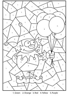 Free Printable Numbers Coloring Pages Unique Free Printable Jester Colour by Numbers Activity for Kids Space Coloring Pages, Fall Coloring Pages, Free Coloring, Coloring Pages For Kids, Coloring Books, Kids Colouring, Alphabet Coloring, Color By Number Printable, Free Printable Numbers