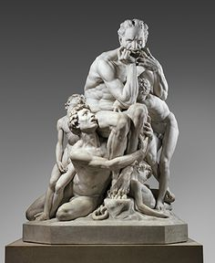 """Jean-Baptiste Carpeaux, """"Ugolino and His Sons,"""" 1867.  Marble."""
