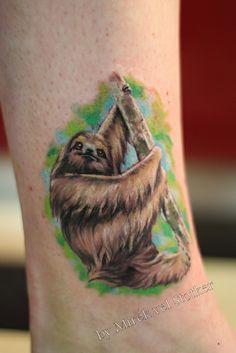 sloth tattoos | sloth tattoo by Mirek vel Stotker | Flickr - Photo Sharing!