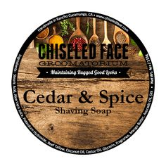 Tallow Shave Soap – Cedar & Spice | http://www.chiseledface.com/product/tallow-shave-soap-cedar-spice-all-natural/