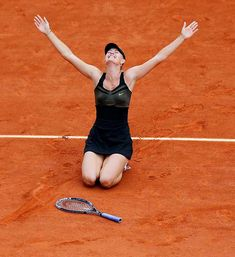 #Sharapova celebrating her French Open victory was chosen as one of Sports Illustrated's Pictures of the Year