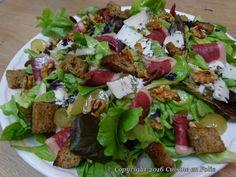 Cuisine en folie: Salade d'automne au magret de canard fumé, aux noix, au bleu d'Auvergne