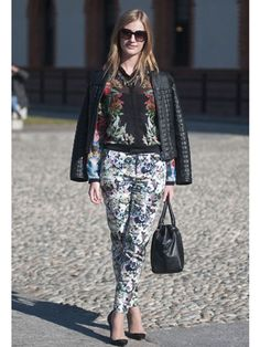 print mixing is recurrent at #fashionweek. Is there a science to this? Which patterns work best? #streetstyle