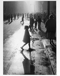 Silhouetted young girl mid 1950s Gelatin Silver Print