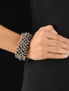 Drop Silver Thread Bracelet