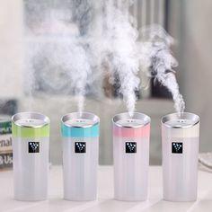 Cup Shape Mini USB Air Humidifier Aromatherapy Diffuser Mist Maker Car Air Purifier 4 Colors