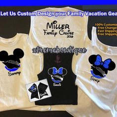 A personal favorite from my Etsy shop https://www.etsy.com/listing/538294915/disney-cruise-shirts-disney-family