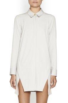 Quarterdeck Shirt Dress Crop
