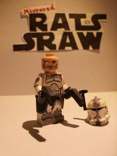 Lego Star Wars minifigures - Clone Custom Commander Wolffe - 104th Star Wars Clone Wars, Lego Star Wars, Custom Lego Clone Troopers, Lego Clones, Lego Army, Star Wars Baby, Star Wars Minifigures, Fun Shots, Lego Stuff