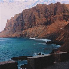 Amazing cliffs on São Nicolau island, Cape Verde #Kaapverdie