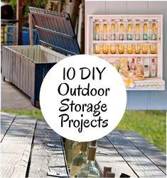 diy home sweet home: 10 DIY Outdoor Storage Projects. - Home Design Diy Projects To Try, Home Projects, Swimming Pool Toys, Garden Tool Storage, Garden Tools, Up House, Backyard, Patio, Do It Yourself Home