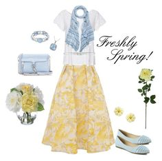 """""""Freshly Spring in Yelloqw!"""" by beautifully-modest-fashion ❤ liked on Polyvore featuring Coast, Odd Molly, White House Black Market, Rebecca Minkoff, Bella Marie, Gogo Philip, Diane James, Amour, 1928 and Laura Cole"""