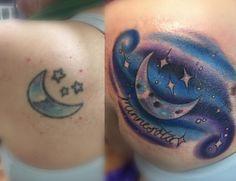 Coverup piece done at www.creamcitytattoo.com City Tattoo, Print Tattoos, Watercolor Tattoo, Cream, Creme Caramel, Temp Tattoo, Lotion, Watercolor Tattoos