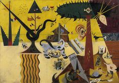 The Tilled Field (1923–24) | Joan Miró (Spanish, 1893–1983) | Oil on canvas, 26 x 36 1/2 inches | Solomon R. Guggenheim Museum, New York.