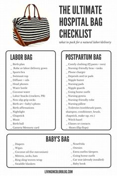 What to Pack in Your Hospital Bag + Video and Free Printable Checklist - Living . - What to Pack in Your Hospital Bag + Video and Free Printable Checklist – Living in Color - Before Baby, After Baby, Baby Planning, Preparing For Baby, Getting Ready For Baby, Baby Time, Baby Essentials, Baby Necessities, Hospital Bag Essentials