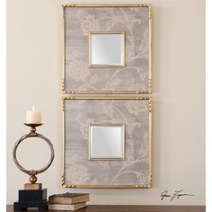 Uttermost 14493 Evelyn Square Mirror - Set of 2