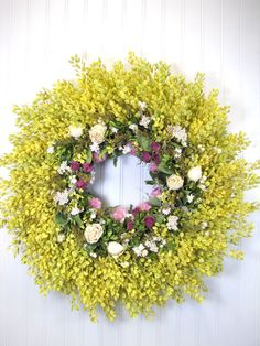 Dried Flower Wreath by summersweetboutique,
