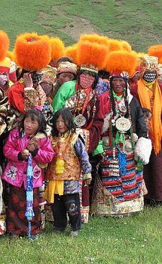 Tibet nomads costumes