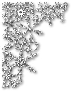 Poppy Stamps - Die - Sparkling Snowflake Corner-Size: x in. Christmas Frames, Christmas Diy, Christmas Cards, Xmas, Laser Cutter Ideas, Diy And Crafts, Paper Crafts, Paper Lace, Parchment Craft