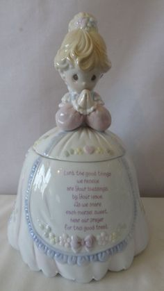 Precious Moments Praying Lady 1994 Cookie Jar by Enesco