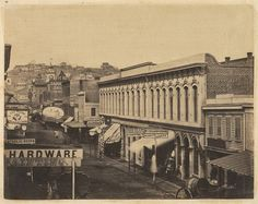 San Francisco, 1856. Photo by unknown. Kearny Street.