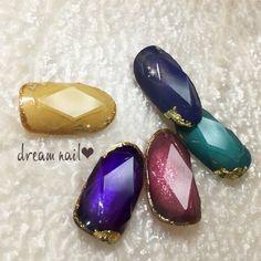 冬/オールシーズン/デート/女子会/ハンド - なぎさのネイルデザイン[No.3738376]|ネイルブック Gem Nails, Hair And Nails, Stamping Nail Art, Beautiful Nail Art, Gorgeous Nails, Japan Nail Art, Diamond Nail Art, Claw Nails, Flower Nails