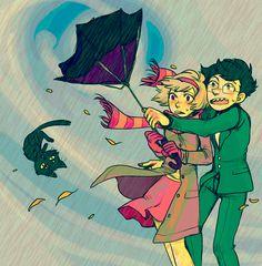 Homestuck - John Egbert x Rose Lalonde - Grimdorks Homestuck John, John Rose, Eeyore, Nostalgia, Told You So, Rain Storm, Fandoms, Princess Zelda, Thunder