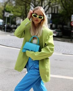 Quirky Fashion, Colorful Fashion, Look Fashion, Autumn Fashion, Fashion Outfits, Womens Fashion, Fashion Trends, Color Blocking Outfits, Mode Pop