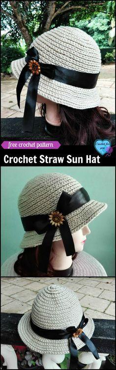 Crochet Straw Sun Hat - free pattern (scheduled via http://www.tailwindapp.com?utm_source=pinterest&utm_medium=twpin&utm_content=post188572951&utm_campaign=scheduler_attribution)