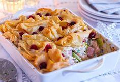 Cranberry  and turkey pie