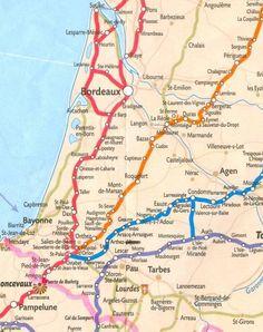Aquitaine :   24 Dordogne ; 33 Gironde ; 40 Landes ; 47 Lot et Garonne ; 64 Pyrénées Atlantiques.