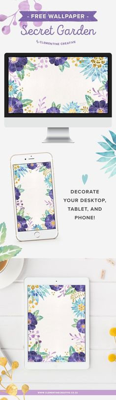 Add beautiful flowers to your desktop computer, phone or tablet with these gorgeous wallpapers! Click here to download them.
