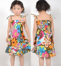 New Girls Dress Smocked Halter Brown Beach Child Clothes Size 2-10 Sunny Fashion, http://www.amazon.com/dp/B009UPVCLC/ref=cm_sw_r_pi_dp_G0lNqb15XXCQM