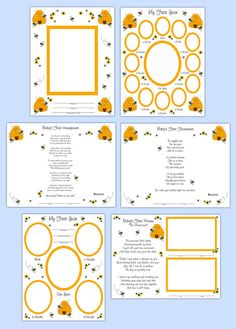 DIGITAL SCRAPBOOK KIT Baby First Year Bumble Bee Premade Pages Memory Book Photo Album Templates Overlays Newborn Layout Shower Personalized Gift #decampstudios