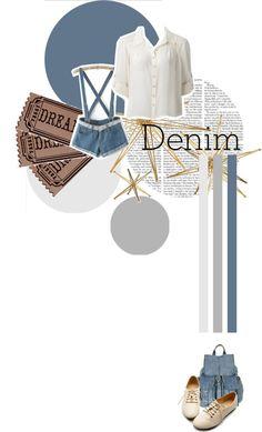 """Denim Denim Denim"" by cursivethelion ❤ liked on Polyvore"